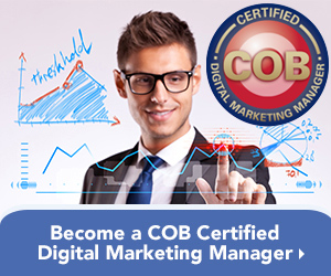 Become a COB Certified Digital Marketing Manager